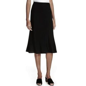 EILEEN FISHER Black Fit & Flare Skirt, NWT $118